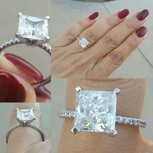 Jewelry - 2ct Princess cut Engagement ring & Band 2pc set